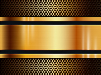 Vector gold metal texture background with light effect