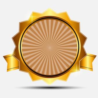 Вектор золотой знак, шаблон этикетки