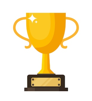 Vector gold, silver and bronze winners cup. vector illustration.