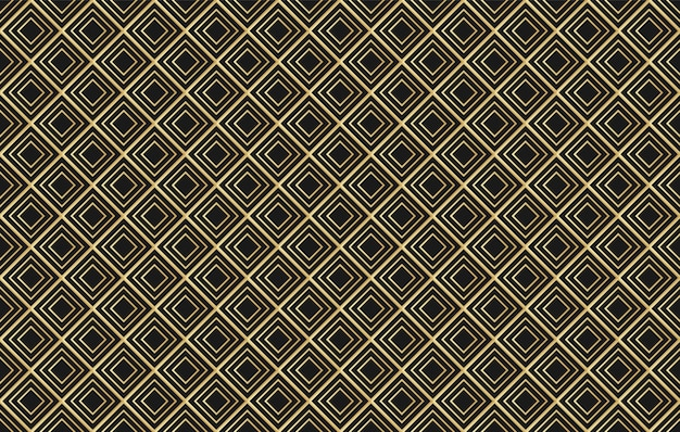 Vector golden diamond seamless pattern .