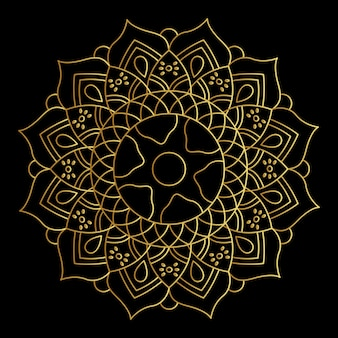 Vector golden gradient mandala