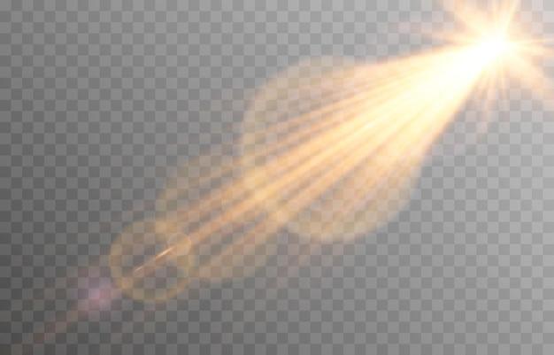 눈부심과 벡터 황금 빛
