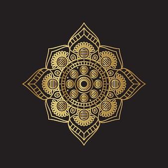 Vector golden mandala