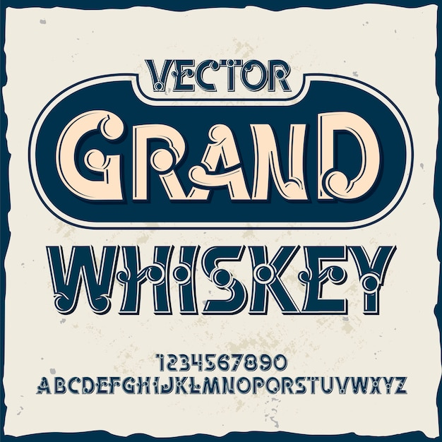 Вектор гранд виски