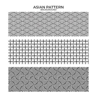 アジアのパターンのベクトルグラフィックイラスト