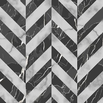 ベクトル灰色と黒のヘリンボーン大理石のシームレスなパターン斜めの霜降り面を繰り返す