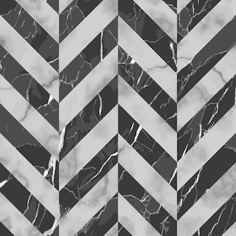Vector gray and black herringbone marble seamless pattern repeat diagonal marbling surface