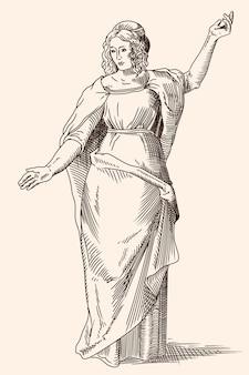 벡터 그리스 여성입니다.
