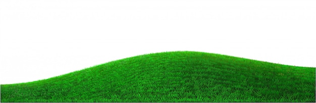 Vector green hill