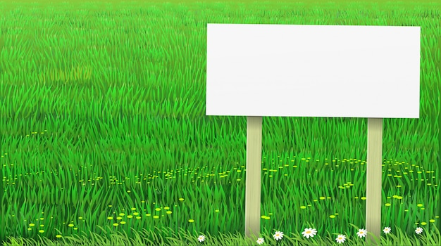 Vector green lawn grass banner