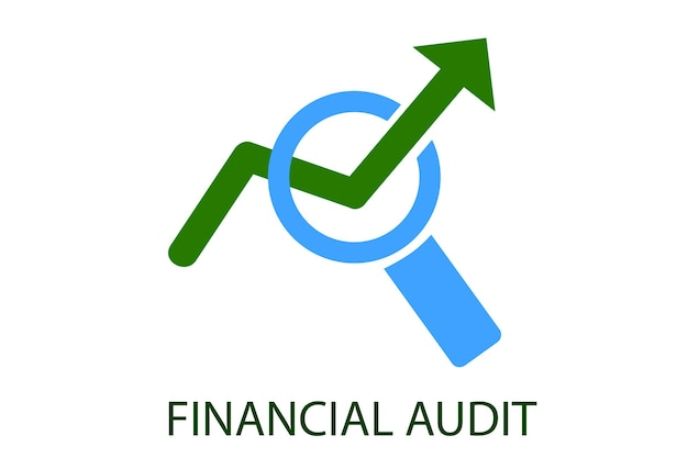 Vector green and light blue logo for financial audit institution club education and other related