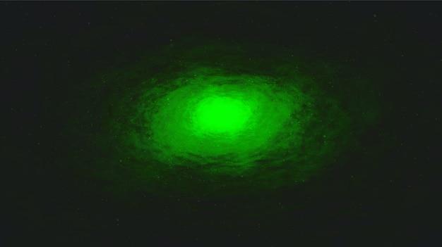 은하계 배경 벡터 녹색 빛 은하수 나선