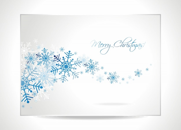 Vector greeting card illustration with snowflakes on a christmas theme.