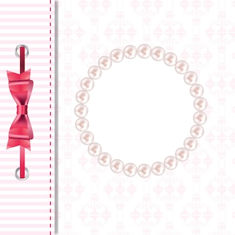 Векторная поздравительная открытка или крышка с бантом. место для вашего текста или p