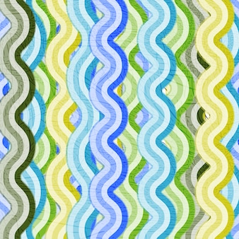 Vector grunge background of colored stripes and waves