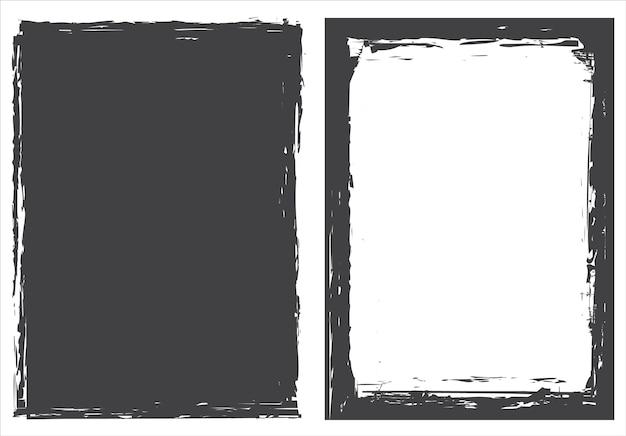 Vector grunge frame backgrounds