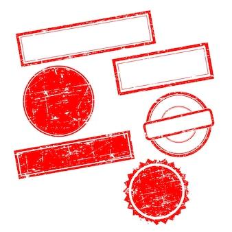 텍스트 없이 벡터 그런 지 우표입니다. 우표 세트입니다.