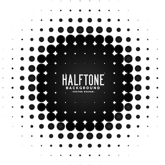 Vector halftone circle frame background