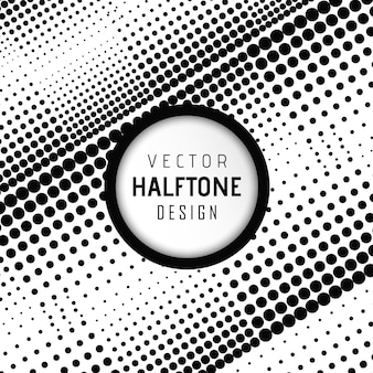 Vector halftone design background