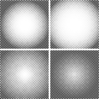 Vector halftone dot textures set
