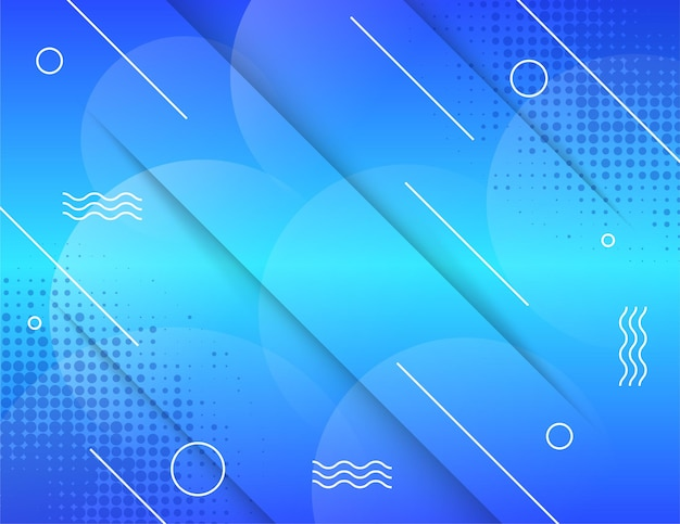Vector halftone smoke effect horizontal layout abstract background use blue light gradient color