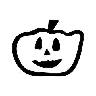 Векторный клипарт хэллоуин тыква. забавная, милая иллюстрация для сезонного дизайна, текстиля, украшения детской игровой комнаты или поздравительной открытки. рисованной принты и каракули.