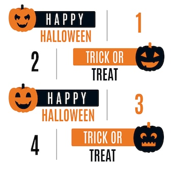 Vector halloween ribbon tag collection