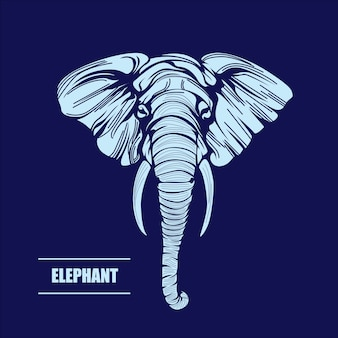 Vector hand drawn illustration of elephant