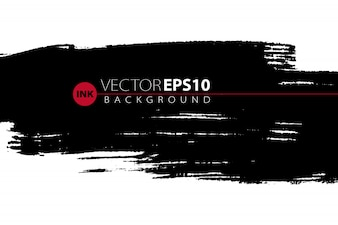 Vector hand drawn ink brush stain for backdrop