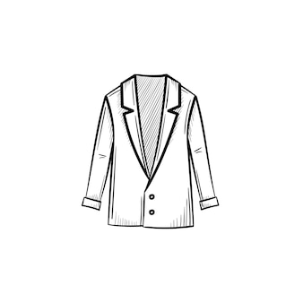 Vector hand drawn jacket outline doodle icon. jacket sketch illustration for print, web, mobile and infographics isolated on white background.