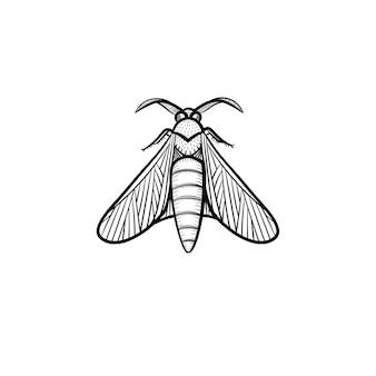벡터 손으로 그린 메뚜기 개요 낙서 아이콘입니다. 흰색 배경에 고립 된 인쇄, 웹, 모바일 및 infographics에 대 한 메뚜기 스케치 그림.
