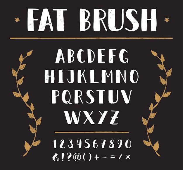Vector hand drawn sans alphabet
