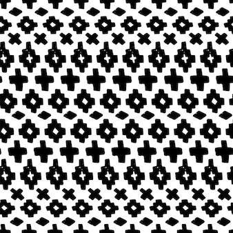 벡터 손으로 그려진된 원활한 부족 패턴입니다. 흑백에서 추상 민족 완벽 한 패턴입니다. 끝 없는 배경 기하학적 모양입니다. 직물, 노트북 커버 및 웹 디자인에 인쇄하기 위한 텍스처