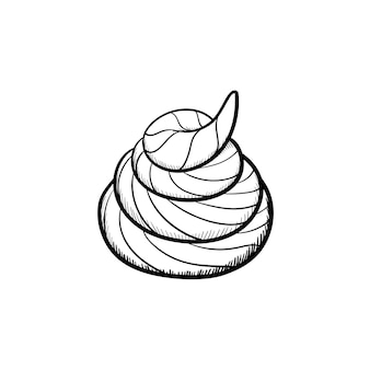 Vector hand drawn shit outline doodle icon