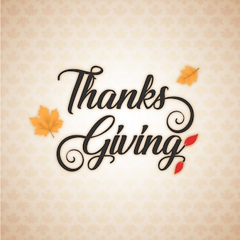 Vector hand drawn thanksgiving lettering greeting phrase