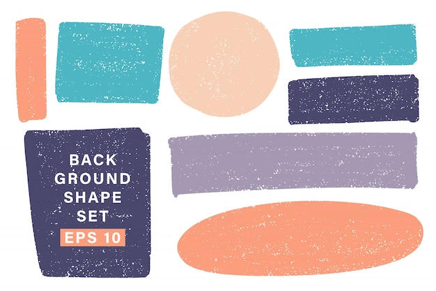 Vector hand drawn various geometric shape set for backdrops.
