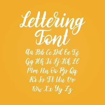 벡터 핸드 레터링 알파벳입니다. 서예 글꼴 문자입니다.