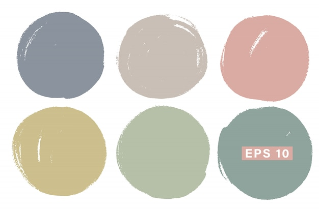 Vector hand painted circle set for backdrops.