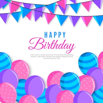 Vector happy birthday background