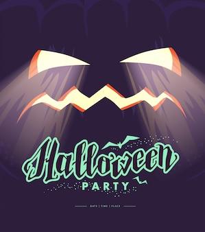 Vector happy halloween congratulation card.