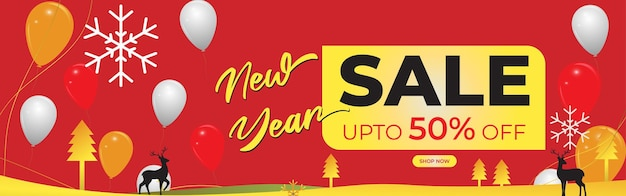 Vector happy new year 2022 sale banner