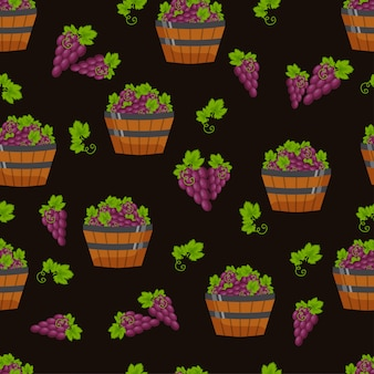 Vector harvest seamless pattern.
