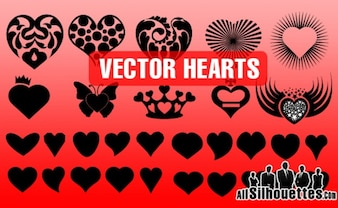 Vector Hearts Shapes