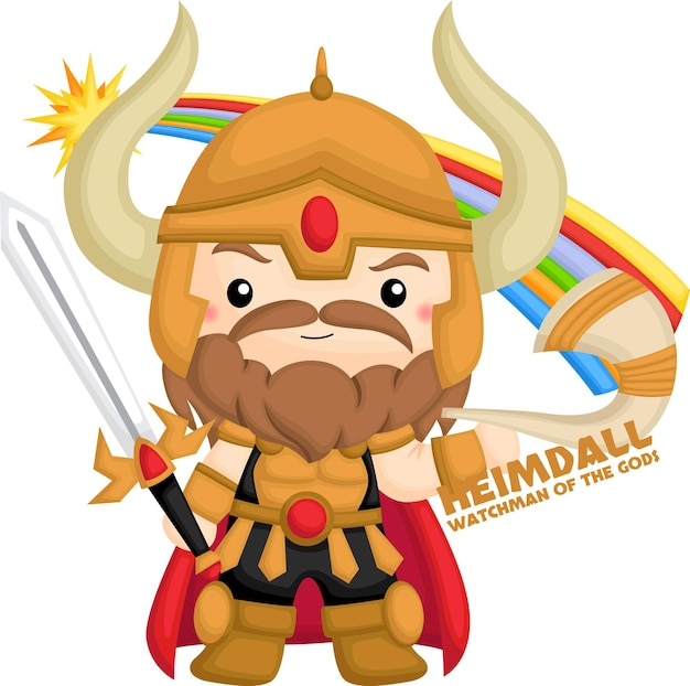Un vettore di heimdall della mitologia norrena