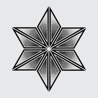 Vector hexagon tattoo
