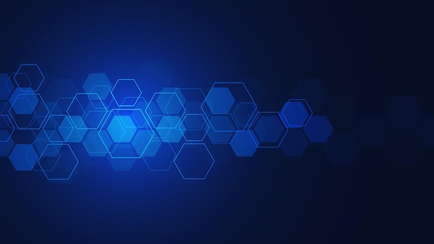 Vector hexagons pattern. geometric abstract background with simple hexagonal elements. medical, technology or science design.