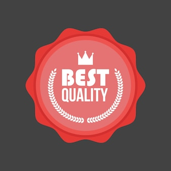 Vector high quality flat badge, round label.