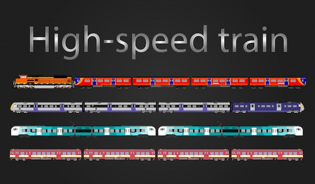 Vector high-speed train and steam train