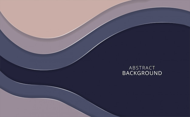 Vector horizontal paper cut abstract background