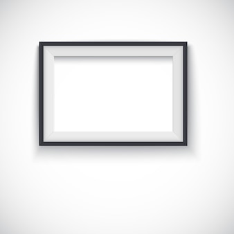 Vector horizontal wooden frame for pictures or photo.